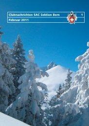 Clubnachrichten SAC Sektion Bern 1 Februar 2011
