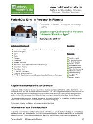 Ferienhütte für 6 - 8 Personen in Flattnitz - Outdoor-Touristik
