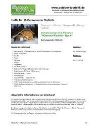 Hütte für 10 Personen in Flattnitz - Outdoor-Touristik