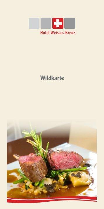 ere ionen. Wildkarte - Hotel Weisses Kreuz