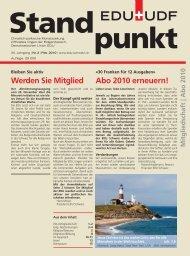 Abo 2010 erneuern! Werden Sie Mitglied - EDU Schweiz