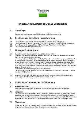 HCP Reglement im PDF Format - Golfclub Winterberg