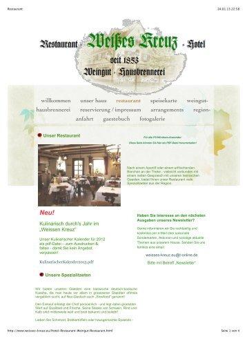 unser haus restaurant speisekarte weingut - Hotel-Restaurant ...