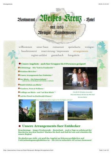 Unsere Arrangements fuer Entdecker - Hotel-Restaurant Weisses ...