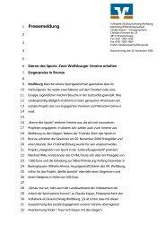 Sterne des Sports - Volksbank eG Braunschweig Wolfsburg