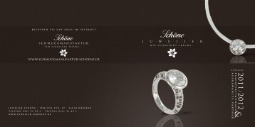 Katalog 2011/2012 (PDF, 1.8MB) - Juwelier Schöne