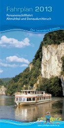 Fahrplan herunterladen - Personenschifffahrt im Altmühltal und ...