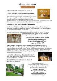 Hochzeitsmappe - Landgasthaus Gieseke-Asshorn