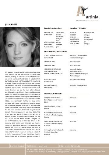 JULIA KLOTZ - Artinia