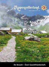 Panorama Wanderkarte - Appenzellerland Tourismus