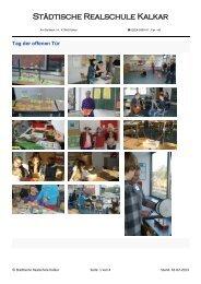 Tag der offenen Tür Januar 2013 - Städtische Realschule Kalkar