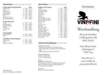 Weinhandlung - Vini Fini