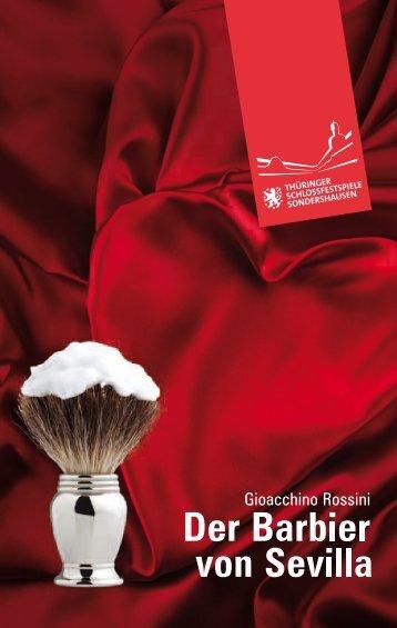 Programmheft - Der Barbier von Sevilla - Theater Nordhausen