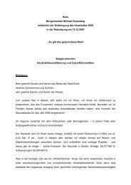 Rede Bürgermeister Michael Kreuzberg anlässlich der ... - Stadt Brühl