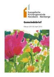 Ausgabe Februar - April 2013 - Evangelische Kirchengemeinde ...