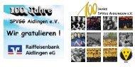 "Festschrift zu ""100 Jahre SpVgg Aidlingen e.V."""