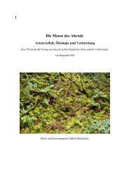 Die Moose des Ahrtals - Artenvielfalt, Ökologie und Verbreitung - Duell