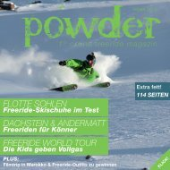 Flotte sohlen Dachstein & anDermatt FreeriDe WorlD tour