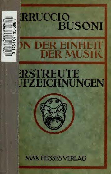 Von der Einheit der Musik, von Dritteltönen und junger Klassizität ...