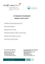 textübersicht pressemappe madeira & porto santo - Associação de ...