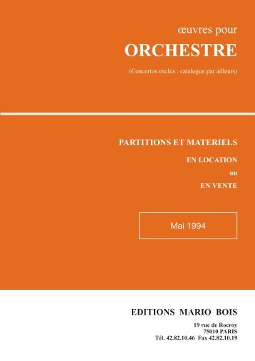 catalogue PDF - EDITIONS MARIO BOIS