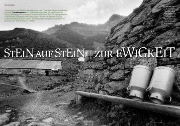 zur ewIgkeIt STeINAuF STeIN - Stiftung Umwelt-Einsatz Schweiz