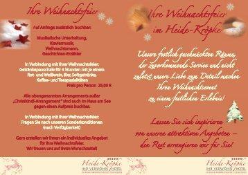 Weihnachtsflyer als PDF-Anhang - Hotel Heide-Kröpke