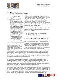 500 Jahre Walserforschung - Virtuelles Walsermuseum