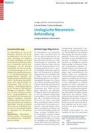 Urologische Nierensteinbehandlung - Berner Institut für ...