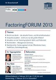 FactoringFORUM 2013 - Deutscher Factoring-Verband e.V.