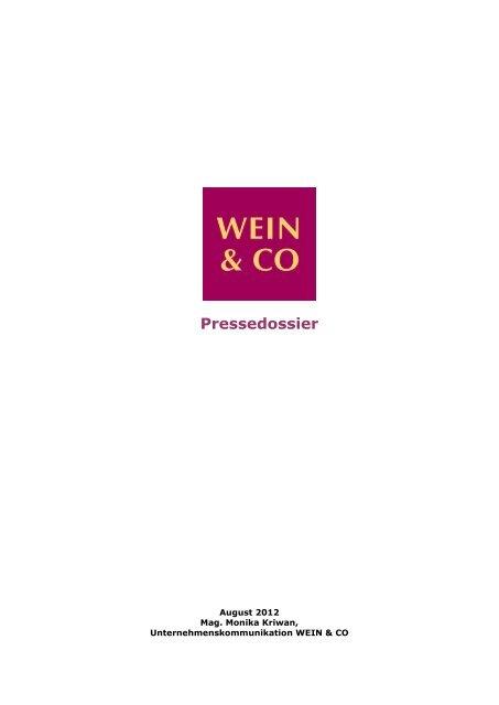 Pressedossier August 2012 - Wein & Co