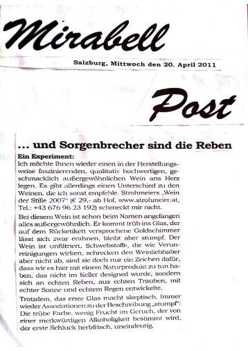 ÿþMirabell Post Michael Ortmanns - Wein- & Sektmanufaktur ...