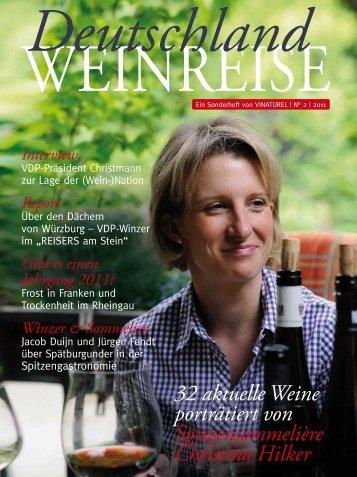 32 aktuelle Weine porträtiert von Spitzensommelière Christina Hilker