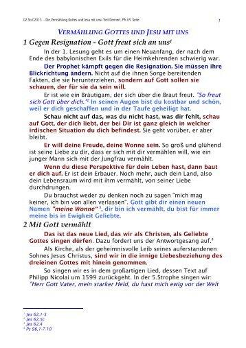 Zur Homilie im Orginalformat lesen ===>> Vermählung Gottes und