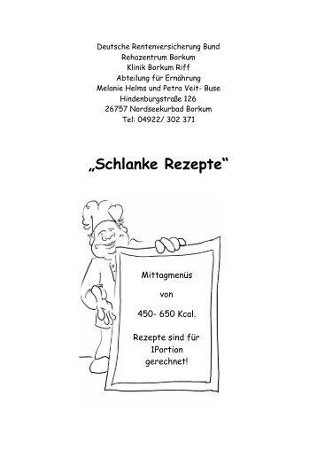 """Schlanke Rezepte"" - Rehazentrum Klinik Borkum Riff"