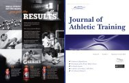 Journal of Athletic Training - National Athletic Trainers