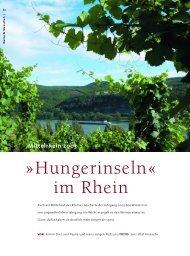 Hungerinseln« im Rhein - Schlossgut Diel