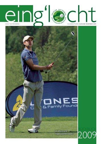 Ausgabe Dezember 2009 - Golf Club Gut Freiberg