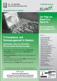 IT-Compliance und Riskmanagement in Banken - Dorda Brugger ...
