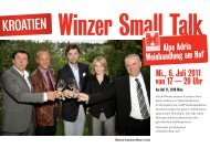 von 17 — 20 Uhr Mi., 6. Juli 2011 Alpe Adria Weinhandlung am Hof