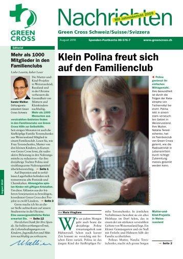 Nachrichten 03/2010 - Green Cross Schweiz