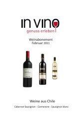 Weine aus Chile - Weinhandlung in Vino Markus Beer