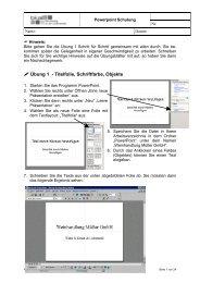 Übung 1 - Titelfolie, Schriftfarbe, Objekte - HG13-bkal
