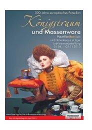 20 Seiten Info Ausstellung Koenigstraum und Massenware