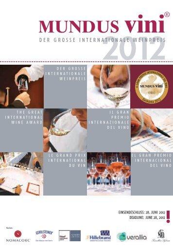 Download - Brochure di partecipazione - MUNDUS Vini