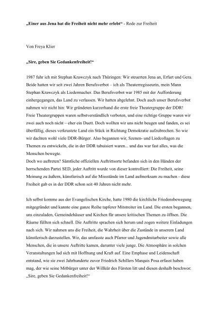 Einer aus Jena hat die Freiheit nicht mehr - Geschichtswerkstatt ...