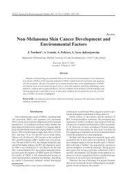 Non-Melanoma Skin Cancer Development and Environmental Factors
