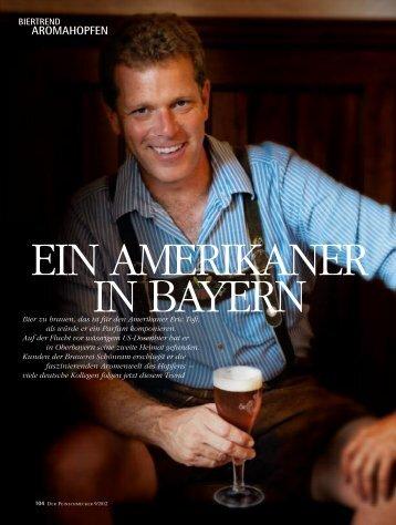 Ein Amerikaner in Bayern (Der Feinschmecker, pdf, 220 - Bierbotschaft