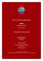 Katalog für Hersteller: Drexler - und Getränke-Welt Weiser