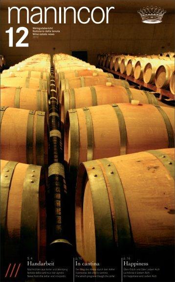 Aktueller Weingutsbericht, März 2012 - Manincor